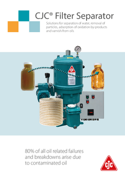 Oil Separators, water & particle removal, hydraulic oil