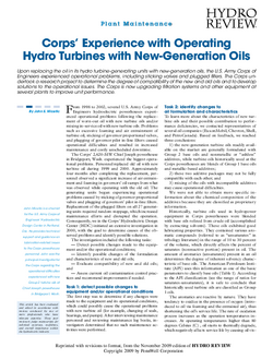 POWER_Corp's experience with operating hydro turbines and case study