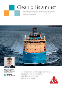 Marine case: Maersk Supply Service brochure - Clean oil is a must