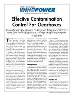 WIND_Effective contamination control for gearboxes