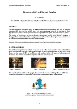 CLEAN OIL_Filtration of oil and related benefits