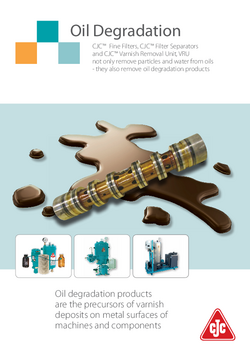 Oil degradation brochure
