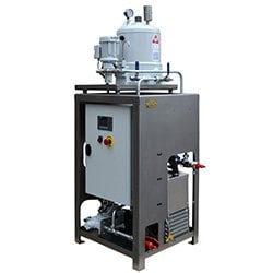 CJC Desorber/Filter Combi Unit, removal of large amounts of water from EALs and biodegradable lubricants