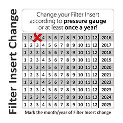 Help yourself to remember to change filter insert